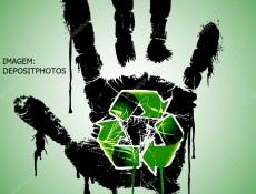 Mão e reciclagem